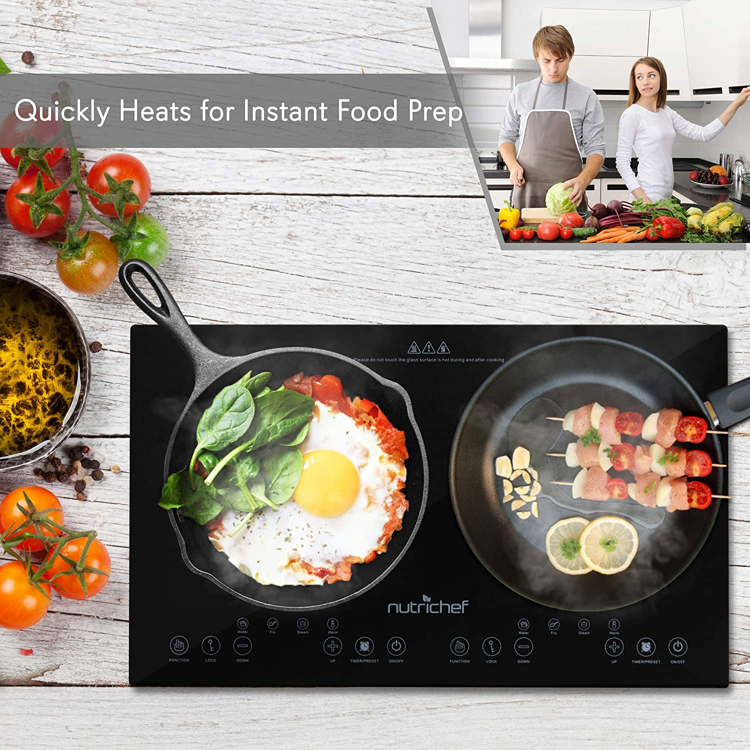 NutriChef - Double Induction stove Cook top