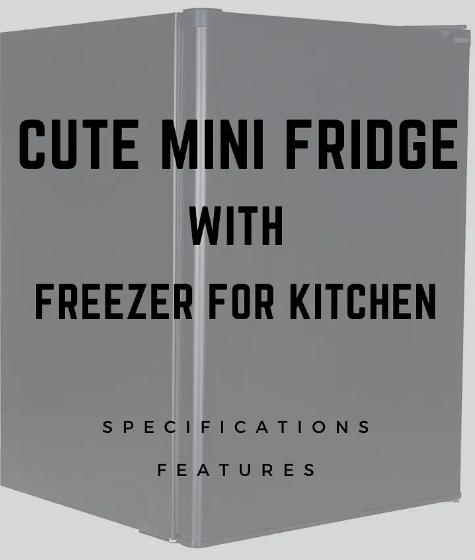Cute Mini Fridge with Freezer for Kitchen